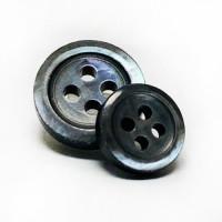 TR-9 / S - Smoke Trocas Shell Shirt Button - 3.5mm thick - 3 Sizes
