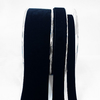 012 Black Swiss Velvet Ribbon, 7 Sizes - Sold by the yard