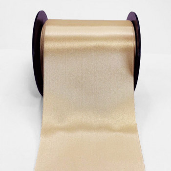 0422-426 Beige  Renaissance Double Face Satin Ribbon, Sold by the Yard ~ 3-3/4 inch