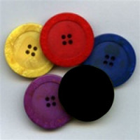 1187-Marbled Button - 4 Colors, 6 Sizes