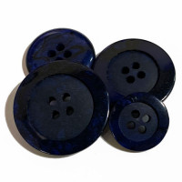 1187-Navy Marbled Button, 4 Sizes