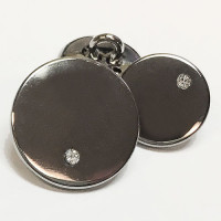 12929 Gunmetal and Rhinestone Blazer Button, 2 Sizes
