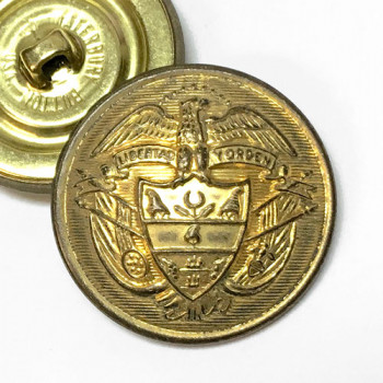 14165 - Old Gold Metal Coat and Overcoat Button, 1-1/8""