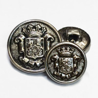 15066 Antique Silver Blazer Button - 2 Sizes