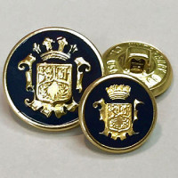 15071 Gold Blazer Button with Dark Navy Epoxy- 2 Sizes
