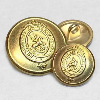 160219 Matte Gold Blazer Button - 3 Sizes