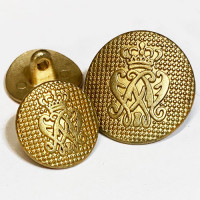 17-1138 Matte Gold Blazer Button - 2 Sizes