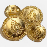 17-129 Matte Gold Blazer Button - 3 Sizes