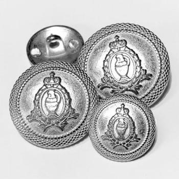 17-139  Matte Silver Blazer Button - 3 Sizes