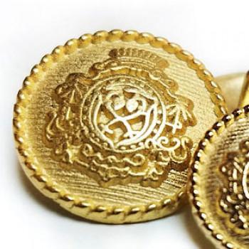 17-625  Matte Gold Blazer Button - 2 sizes
