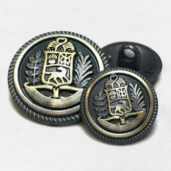 17-780 Brushed Gunmetal and Gold Blazer Button - 2 Sizes