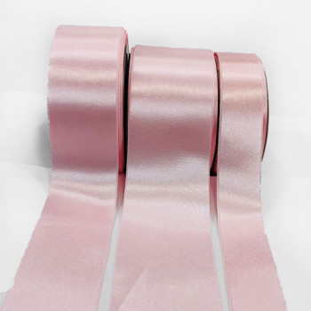 300 Col. 005 Light Pink Stephanoise Double Face Satin Ribbon, 3 Sizes - Sold by the yard