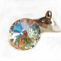 3001-Crystal AB Swarovski Button