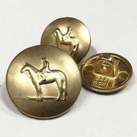 320535-Matte Gold Metal Equestrian Button - 2 Sizes