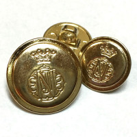 320536 -  Gold Blazer Button - 2 Sizes