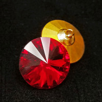 4007 Vintage Red Swarovski Crystal Rhinestone Button