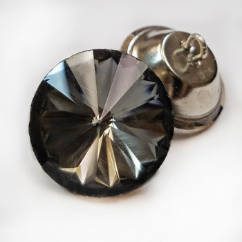 4526 Smoke Glass Rivoli Rhinestone Button