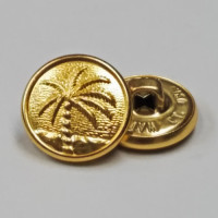 M-4782-  Palm Tree  Button, Sold by the Dozen