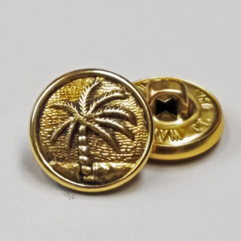 M-4783-  Palm Tree Button, Sold by the Dozen