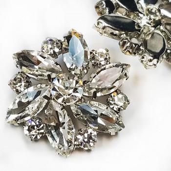 7150 - Large Crystal Rhinestone Button