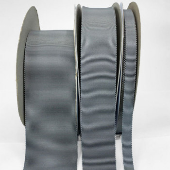 8000  Col. 3 Grey Petersham Grosgrain Ribbon, 9 Sizes - Sold by the Yard