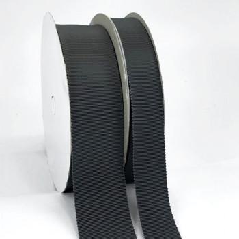 8000  Col. 4 Dark Grey Petersham Grosgrain Ribbon, 2 Sizes - Sold by the Yard