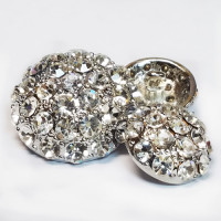 9182A-Gold or Silver Base - Swarovski Stones (4 Sizes, 3 Base Colors)