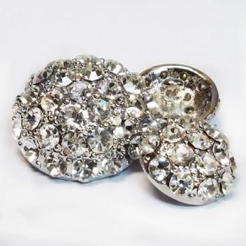 9182A-Gold or Silver Base - Swarovski Stones (4 Sizes, 3 Base Colors)