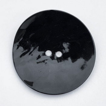 AG-1150-B  Extra Large, Black Agoya Shell Button - 1-3/4""