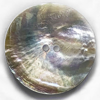 AG-112  Extra Large Natural Agoya Shell Button, 1-3/4""