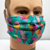 AM-150 Ice Cream Cone Pattern Protective Face Mask — Sold per piece or in Packs of 5