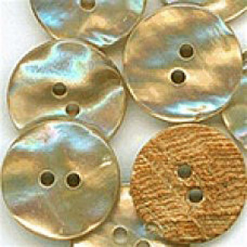 AWB-100 Genuine Awabi Shell Button, Sold by Dozen - 6 Sizes