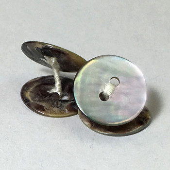 Agoya Shell Cufflinks, Priced per Pair