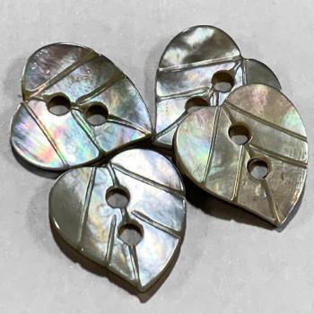 Agoya Shell Leaf Button