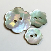 Agoya Shell Flower Button - 3 Sizes, Sold by the Dozen