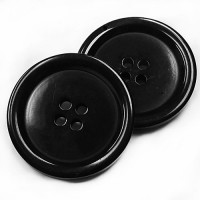 BB-502 Large Black  Fashion Button -  6 Sizes