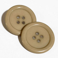 BB-880 Large Tan 4-Hole Button, Priced by the Dozen (SAVE WHEN BUYING 12 DOZEN OR MORE)
