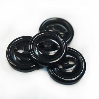 BBR-23-D Black Fisheye Button, Priced by the Dozen