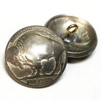 BFM-10  Genuine Buffalo Nickel Button