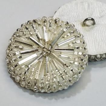 BG-4821 Clear Glass Beaded Button