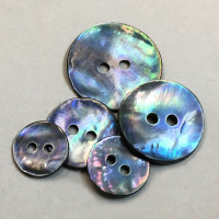 BL-110 Blue Smoke Agoya Shell Button -  Sold by the Dozen, 5 Sizes
