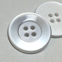 "BL-151 Four-Hole Lab Coat Button, 7/8"" - Priced per Dozen or per Gross"