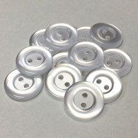 "BL-250 Two-Hole Lab Coat Button, 3/4"" - Priced per Dozen or per Gross"