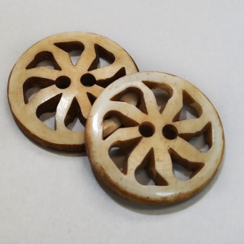 BN-067 Hand Stained Carved Bone Button