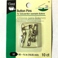 BP-73  Button Pins, 10 Count