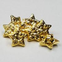 BTP-13  Gold Star Buttons, 100 Piece Bag