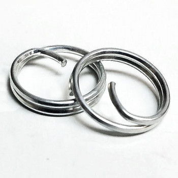 BTR-01- Zinc, 1/2 inch Button Rings -- Sold by the Dozen