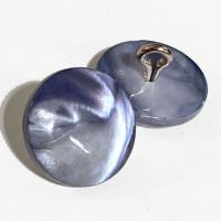 """BU-050 Blue Mussel Shell Shank Button, 5/8"""""""