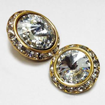 C-0723  Crystal Rhinestone Button - 4 Sizes