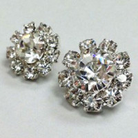 C-1340-Crystal Rhinestone Button - 2 Sizes